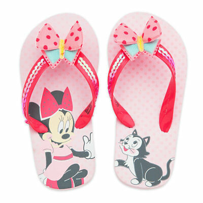 NWT Disney Store Minnie Mouse Flip Flops Sandals Shoes Girls many sizes