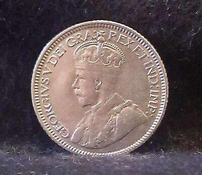 1936 Canada (Dominion) silver 10 cents, last year of George V, nice, KM-23a