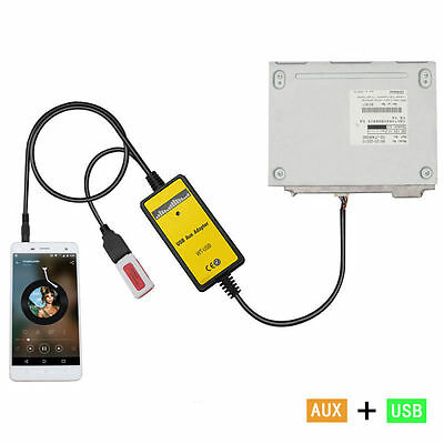 Car USB MP3 Interface Adapter With 3.5mm AUX In Input For Toyota 6+6