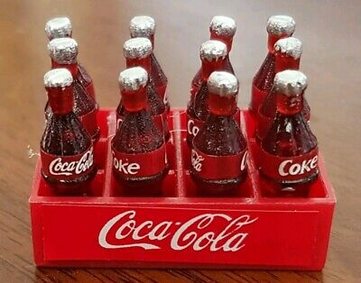 Coles Little Shop Mini Collectables - Coke in crate with 12 bottles