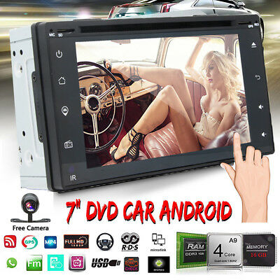 Android 8.1 BT Double 2 DIN Car Stereo GPS 7'' HD Radio DVD Player WIFI FM W/Cam