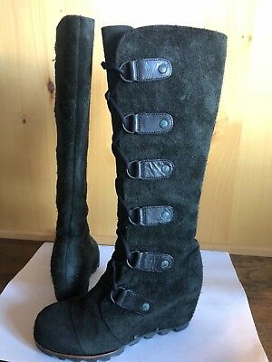 3f67623ad1a SOREL JOAN Of ARTIC WEDGE 6.5 TALL Cate the Great Boots LACE UP KNEE HIGH  RARE
