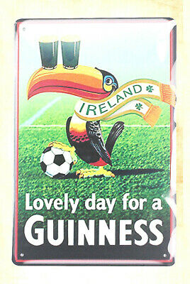US Seller- wall plate Lovely day for a Guinness tin metal sign