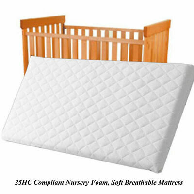 NURSERY BABY QUILTED BREATHABLE CRADLE/PRAM /COT/CRIB MATTRESS SIZE 90CM x 40 CM