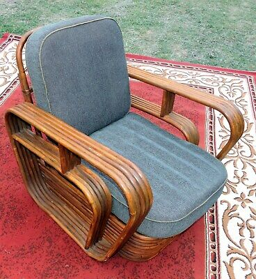 Art Deco Cane Lounge Chair