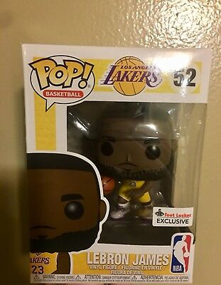 99947ff7334 New Funko Pop! NBA Lakers Lebron James  52 Yellow Jersey Foot Locker  Exclusive