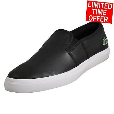 a8a473fff Lacoste Gazon BL Womens Slip On Leather Retro Designer Trainers Black B  Grade