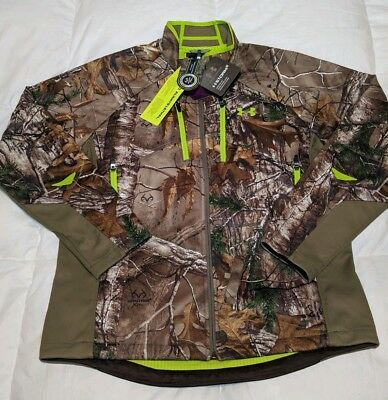 70373d93cabfb NWT Under Armour Storm 2 Scent Control Softshell Jacket Realtree Men's Size  Lrg