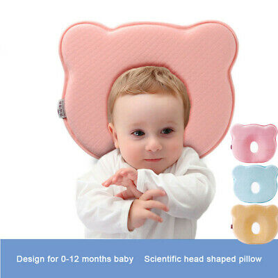Infant Baby Cozy Pillow Prevent Flat Head Memory Foam Cushion Sleeping Support