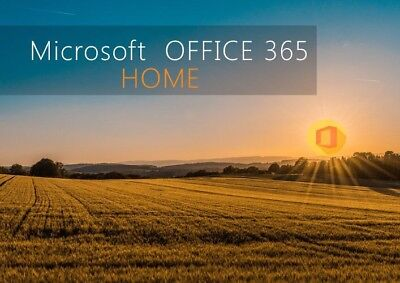Microsoft Office365 Home Subscription for your microsoft account(see details)