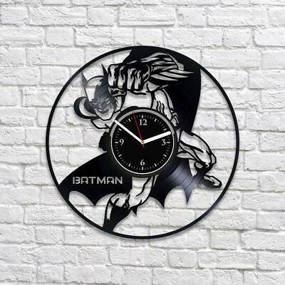 Dark Knight Art DC Comics Batman Vintage Vinyl Record Wall Clock Christmas Gift