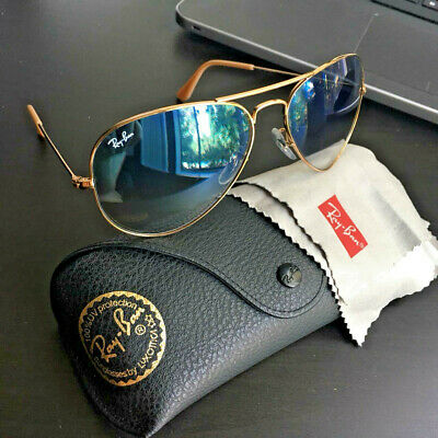 Ray-Ban Aviator Rb3025 001/3f Gradient Lens Sunglasses Gold/Blue
