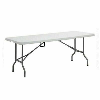 6ft Folding Table Heavy Duty Trestle Camping Party Picnic BBQ Stall Garden