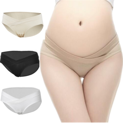 1-3Pcs Maternity Underwear Panties Pregnancy Bikini Briefs Cotton Under The Bump