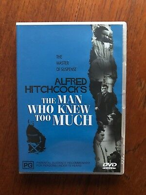 The Man Who Knew Too Much DVD Region 4 Disc VGC Alfred Hitchcock
