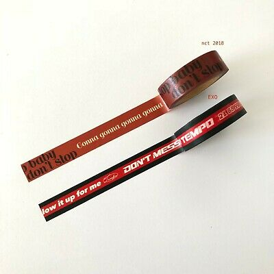 """nct 2018 엔시티 <SMTOWN GIFTSHOP> LIMITED EDN WASHI TAPE """"Stop Baby Don't Stop"""""""