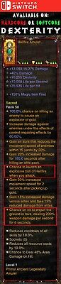 Diablo 3 Nintendo Switch - PRIMAL Modded Amulet - Hellfire With Ground in Lava