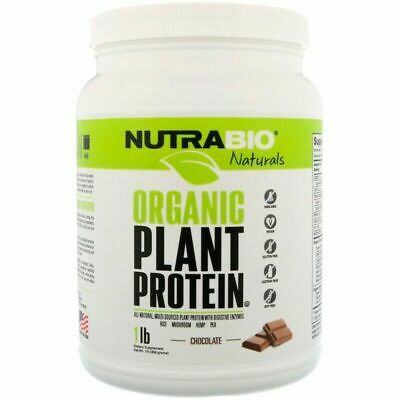 NutraBio Labs Naturals Organic Plant Protein Chocolate 1 lb (454 g)