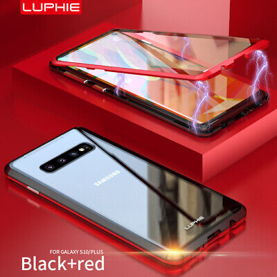 Magnetic Adsorption Case For Samsung S8 S9 S10 Plus Double Sided Tempered Glass