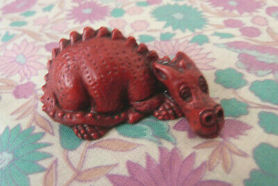 Vintage Miniature Red Baby Dragon Hand Made in Wales