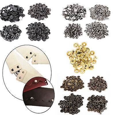 Heavy Duty Brass 15mm Press Studs Snap DIY Fasteners For Leather Jackets Clothes
