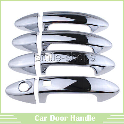 FIT FOR SUBARU FORESTER 09-13 CHROME DOOR HANDLE CATCH COVER TRIM MOLDING CAP