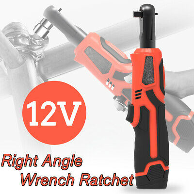 "Rechargeable Cordless Electric Ratchet Wrench 12V Right Angle 3/8"" Wrench Tools"