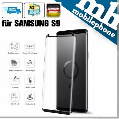 5D Panzer Echtglas Samsung Galaxy S9 Display Schutz Folie Glass Full Screen 9H