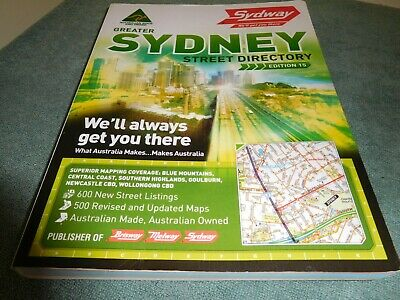 SYDNEY STREET DIRECTORY Edition 15 2009 by Sydway