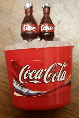Coles Little Shop Mini Collectables - Coke in a ice bucket with 2 bottles