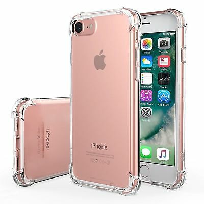 For iPhone 7 & 7PLUS Clear Soft Gel Case and 2x Tempered Glass Screen Protector