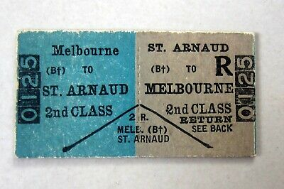 VR Melbourne to St Arnaud - Second Class Return