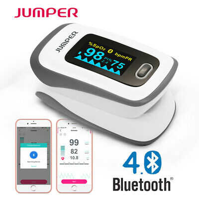 Finger Bluetooth Pulse Oximeter Blood Oxygen Saturation SpO2 Heart Rate Monitor