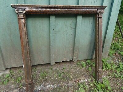 Vintage Classical Ornate  Cast Iron Fireplace  Insert