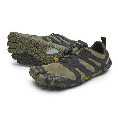 Vibram Mens FiveFingers V-Trail 2.0 Running Shoes Trainers Sneakers Black Green