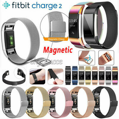 NEU Für Fitbit Charge 2 Watch Band Metall Edelstahl Milanese Loop Armband Strap
