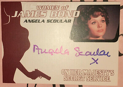 WA36 Angela Scoular Auto Autograph Trading Card Women of James Boond 007