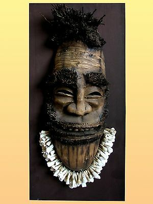 Recycle Art of Mask With Naga Necklace For Hanging Wall Decor Beautiful & Rare*