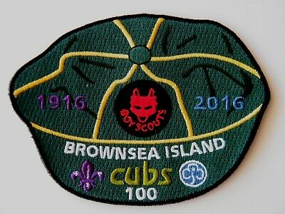 BROWNSEA ISLAND BADGE: 100 years of Cub Scout and Wolf Cubs (1916 - 2016)
