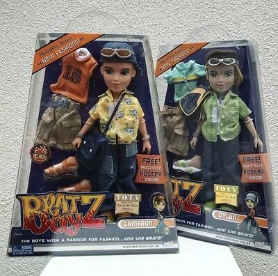 The Bratz Boyz Dolls Action Figure Complete Duo Cameron Dylan 2002 Vintage #DP