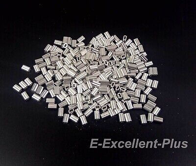 "Aluminum Swage Sleeves Ferrules for 1/16"" Wire Rope Cable 100 200 500 1000 pcs"