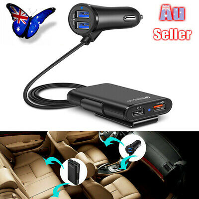 Multi 4 Port USB Car Charger Adapter Socket Quick Charge QC 3.0 For iOS Android