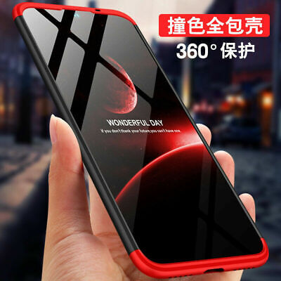For Xiaomi Redmi Note 7 360° Full Protection Shockproof Hybrid 3 in 1 Case Cover