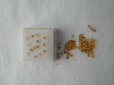 Citrine gemstones 2mm round cut 2 stones for £1