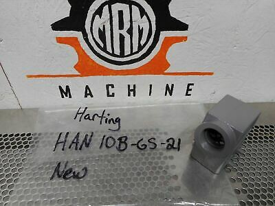 Harting HAN 10B-GS-21 Side Entry Connector Housing New Old Stock (Lot of 3)