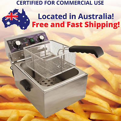 High Quality DEEP FRYER 10L Comercial Certified  Electric Benchtop FISH CHIPS