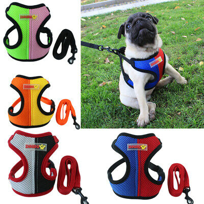 Walk Leash Mesh Puppy Vest Dog Harness Pet Traction Rope Chest Strap Collar