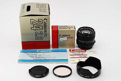 【 NEAR MINT IN BOX 】 CANON New FD 24mm F2.8 NFD Wide Angle MF Lens  From Japan