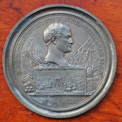 """France, Napoleonic """"cliche""""/ uniface medal by Andrieu, Battle of Maringo 1800"""