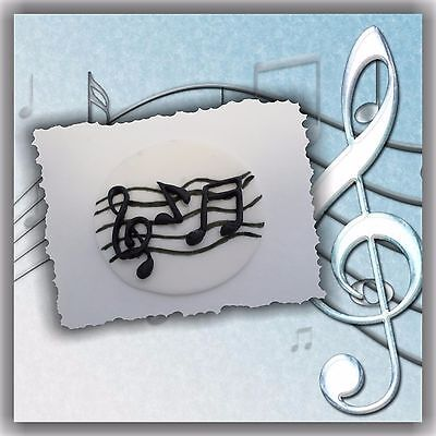 Other Baking Accessories 12 Musical Notes Edible Sugar Cupcake Toppers Baking Accs. & Cake Decorating